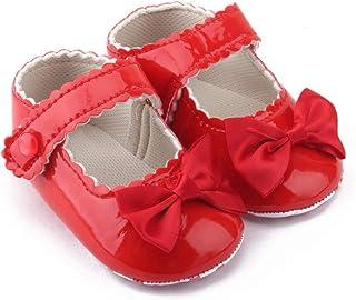 Fossen Kids, Zapatos de Bebe Niña de Vestir, Zapatos de Bebe Niñas Recién Nacido Primeros de Suela Blanda con Bowknot Princesa Estilo 0-18 meses