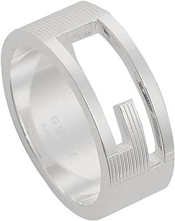 [グッチ] 指輪 GUCCI リングブランデッドレギュラーGリング Gマーク 032660 09840 8106 スターリング シルバー [並行輸入品] 19号