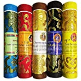 Juccini Tibetan Incense Sticks ~ Spiritual Healing Hand Rolled Assorted Incense Made from Organic Himalayan Herbs ~ Aromatherapy Incense for Pressure Relief, and Zen Meditation (Assorted)