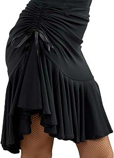 Micopuella 社交ダンス スカート ドレス 衣装 ラテン ダンス インナー パンツ 付き 練習 レッスン ブラック レディース ストレッチ 動きやすい