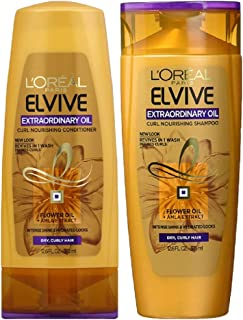 L'Oreal Paris Extraordinary Oil Curls Shampoo and Conditioner Set 12.6 Ounces Each Packaging May Vary