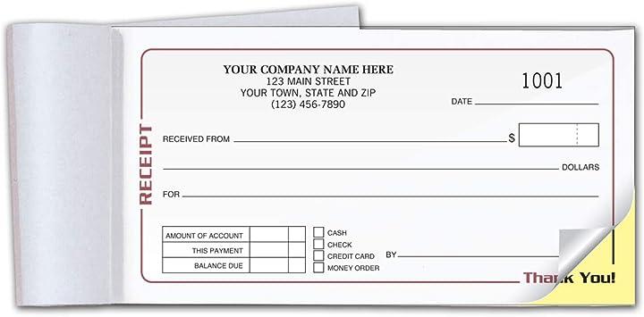 Amazon Com Checksimple Gray Cash Receipt Book Single Payment Slip 50 Per Book W Duplicates 500 Receipts Office Products