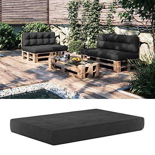 Vicco Palettenkissen Sitzkissen 120x80x15 Palettenmöbel (Sitzkissen 120x80, Anthrazit)