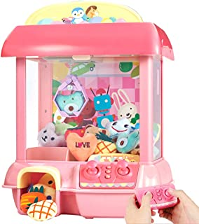 CISAY Claw Machine,C1 Claw Toy,2.4G Remote Control Automatic or Manual Dual Mode Mini Claw Machine, Intelligent System with Music and Lighting, Giving Children The Best Gift (Pink)