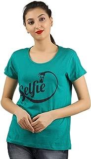 MIDAAS Cotton Printed Womens Tshirts