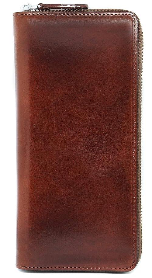 受け入れ拡大する物理学者【最高峰のイタリアレザー】薄型 本革 ラウンドファスナー 長財布 大容量 ボックス付き