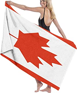 SteCury Canada Flag Bath Towel Quick Dry Highly Absorbent Beach Towel Lightweight Soft Bathroom Towel Durable Home Towels Shower Towel Oversized Fade-Resistant Pool Towels for Men Women