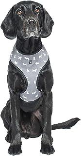 MOG & BONE Neoprene Dog Harness Grey Designer Dog Print Small