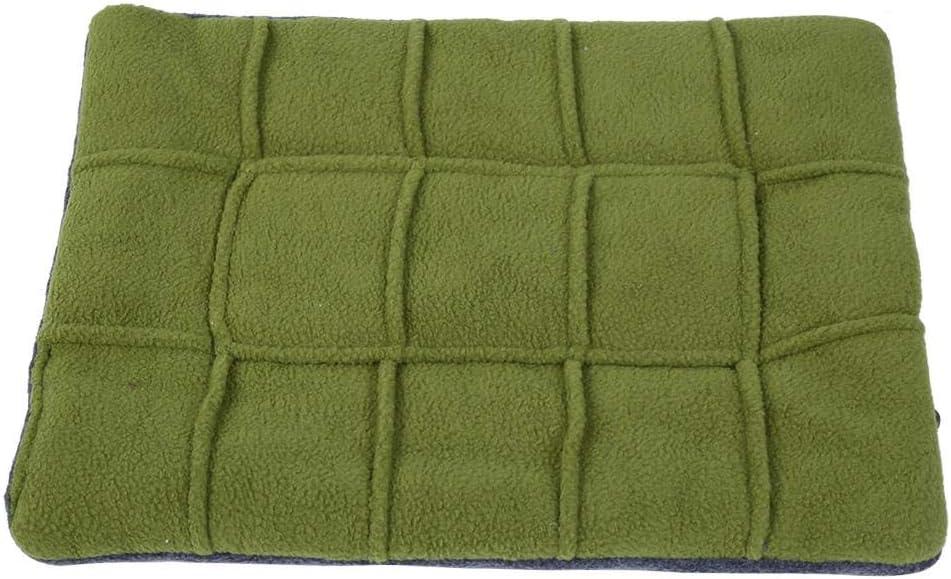 Store TOPINCN Pet Square Max 88% OFF Grid Mat Thicken B Velvet Pad Comfortable