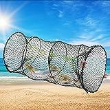 TANCUDER Trampa de la Red de Pesca Trampa de Pesca Plegable Red de Pesca Portátil Trampa de Cangrejos 30cm x 60cm Nailon Jaulas de Cangrejo Trampa Redonda para Peces Camarones