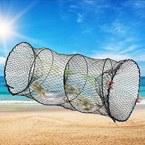 TANCUDER Crab Trap Basket Collapsible Mesh Crayfish Traps Cage Foldable...