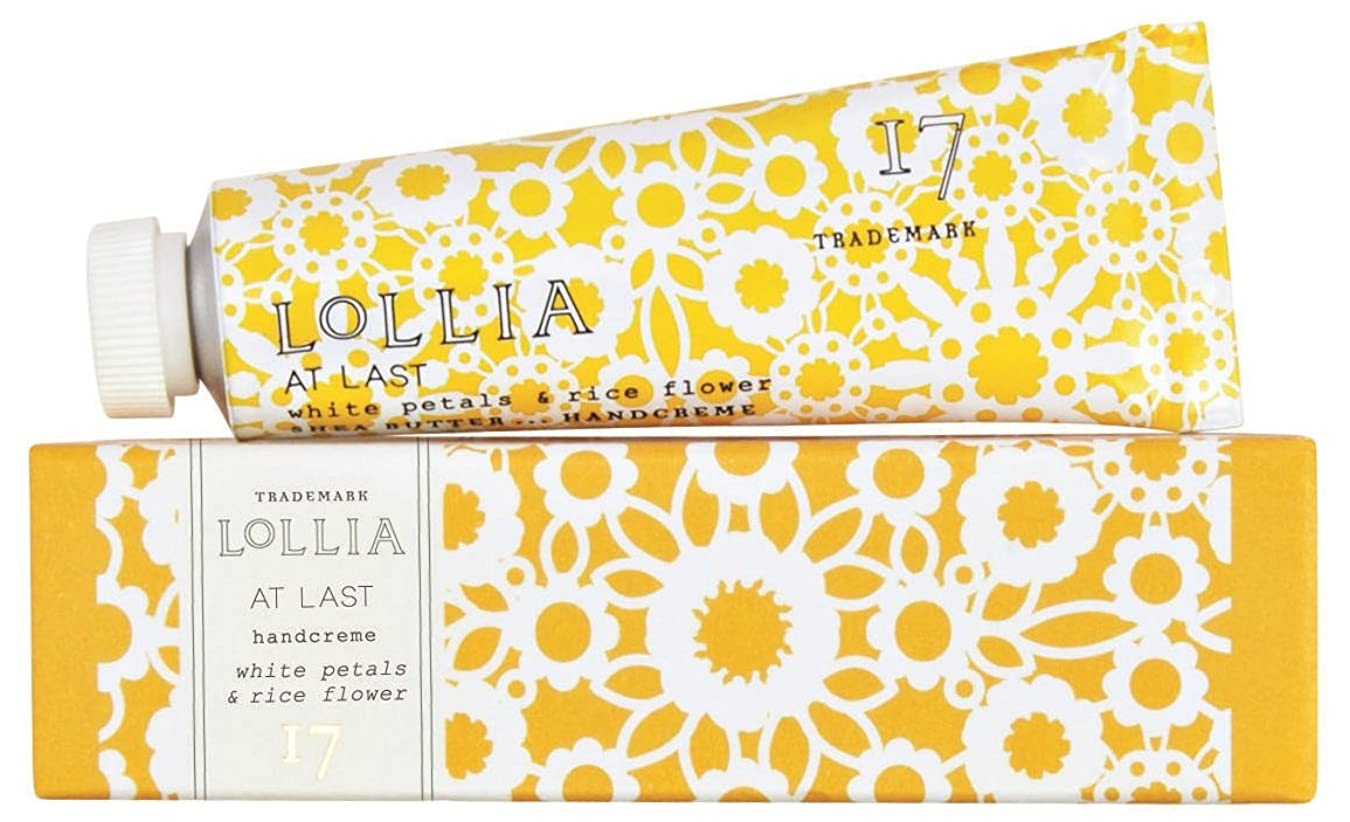 バブルハドル中絶ロリア(LoLLIA) ラージハンドクリーム AtLast 113g(手肌用保湿クリーム ライスフラワー、マグノリアとミモザの柔らかな花々の香り))