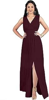 Womens Long Sleeveless Bridesmaid Cocktail Evening Maxi Dress