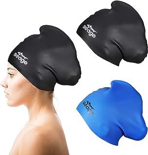 Swim Cap Long Hair 2 Pack Swimming Caps for Women...