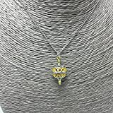 NaNa81 - Unique Pendant Necklace Gold Color Hollow Ball Charm Two Tone Liahona Necklaces with Steel Chain for Baptism Festival Gift