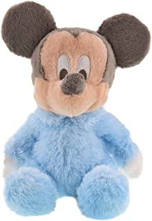 "Disney Soft 10"" Plush Baby Mickey Mouse with Rattle Inside"