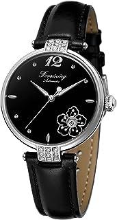 Forsining Fashion Women's Flower Design Waterproof Automatic Watch Mechanical Date Display Wrist Watch