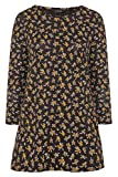 Yours Clothing Womens Plus Size Floral Long Sleeve Top Size 26-28 Black Floral