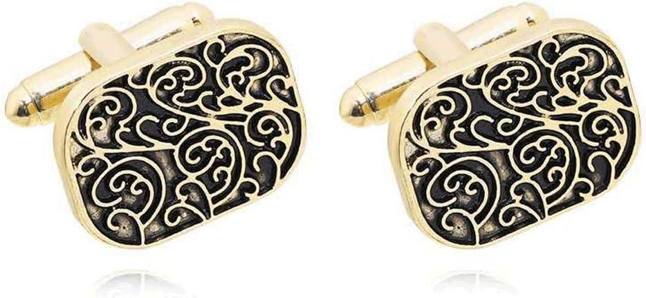 GYZX Men and Women Cufflinks, Jewelry Shirt Cufflinks, Gold Cufflinks, Pattern Wedding Accessories (Color : A)