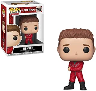 Funko Denver: Money Heist (La Casa De Papel) x POP! TV Vinyl Figure & 1 POP! Compatible PET Plastic Graphical Protector Bu...
