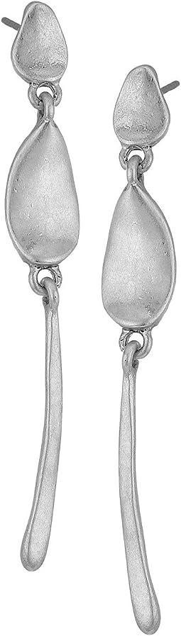 The Sak - Metal Post Linear Earrings