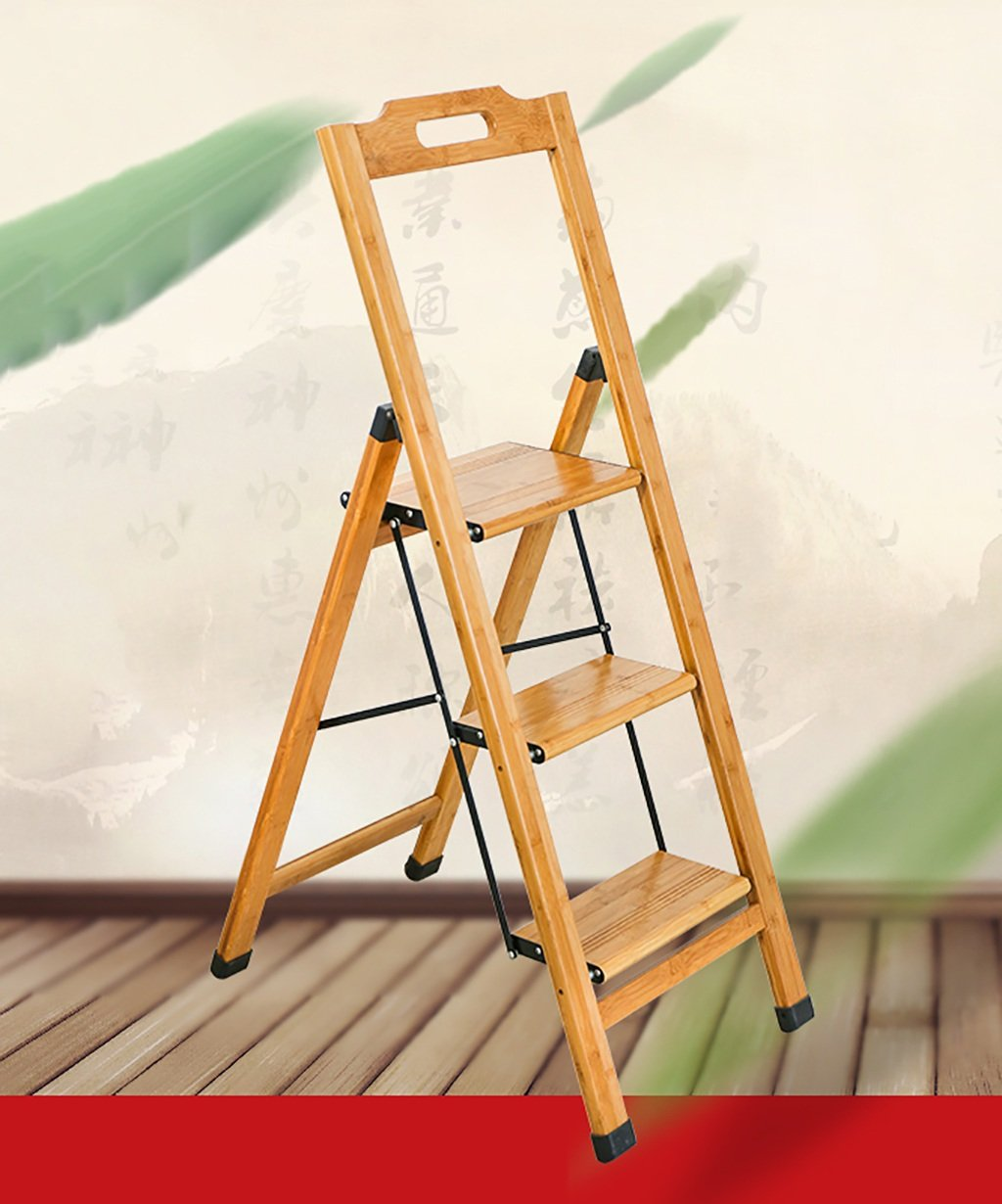 PENGYIZI Madera Maciza Escalera Plegable Casa Creative Multi-Funcional Bambú Escalera Escalera De Silla Escalera Interior: Amazon.es: Hogar