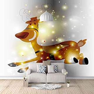VITICP Adults Kids Wall Stickers Decals Peel and Stick Removable Wallpaper Cartoon Animal Fawn for Nursery Bedroom Living ...