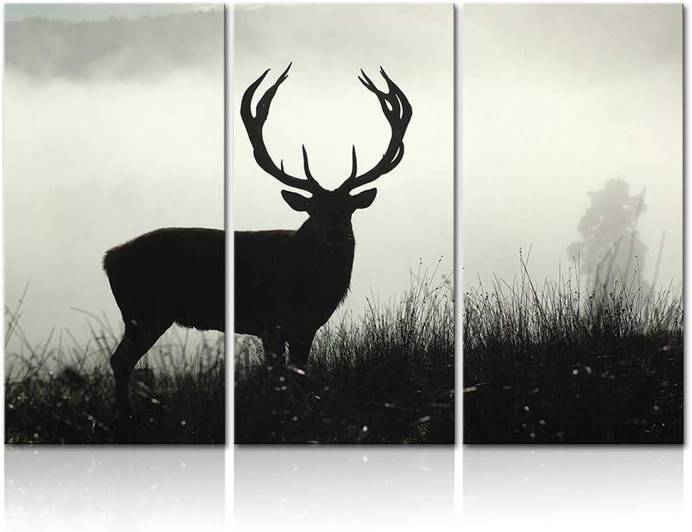 Innopics 3 Piece Canvas Wall Abstra Ultra-Cheap Deals shop Deer Art Wildlife Silhouette