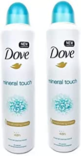 Dove Mineral Touch Anti-perspirant Deodorant Spray - For Women (300 ml, Pack of 2)