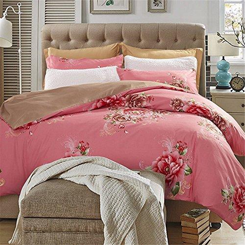 Ustide Romantic Flower Print Duvet Cover Set For Gift, Soft, Double