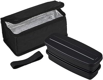 オーエスケー イージーウォッシュ 2段 お弁当箱 保冷バッグ付 BLW-28HF