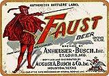 Lorenzo Faust Beer Vintage Metall Eisen Malerei Plaque