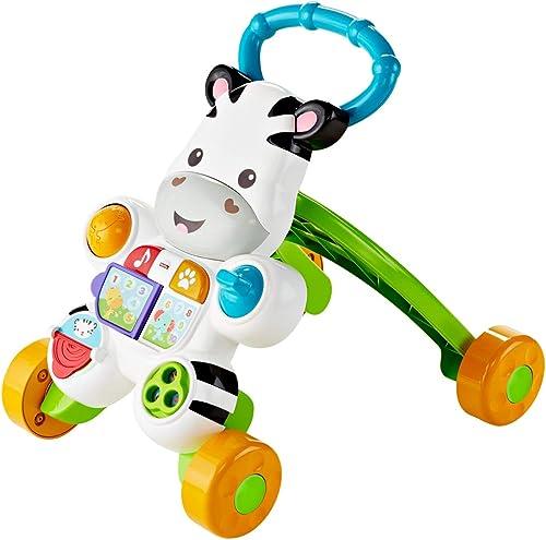 Fisher-Price Mon Trotteur Zèbre Parlant pour apprendre à marcher avec musique et activités d'éveil, pour bébé de 6 mo...