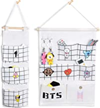Nuofeng - Kpop BTS Storage Pockets, Wall Door Closet Hanging Storage Bag Organizer for Bedroom & Bathroom