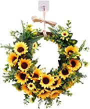 BESPORTBLE Artificial Sunflower Wreath Garland Decor Simulation Home Decoration Garland Ornament Party Supplies for Christ...