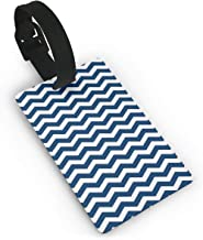 Luggage Tags Darkblue Chevron Airplane Name Tag Holder Labels