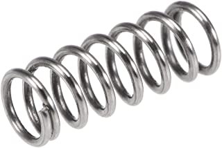uxcell Compression Spring,304 Stainless Steel,6mm OD,1mm Wire Size,5mm Compressed Length,10mm Free Length,37.2N Load Capacity,Silver Tone,30pcs