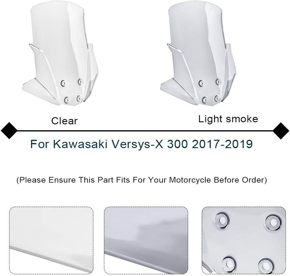LJBusRoll For Kawasaki Versys X-300 VERSYS-X 300 2017 2018 2019 2020 2021 Touring Fairing Windscreen Windshield Shield wind Deflector Versys X300 Clear