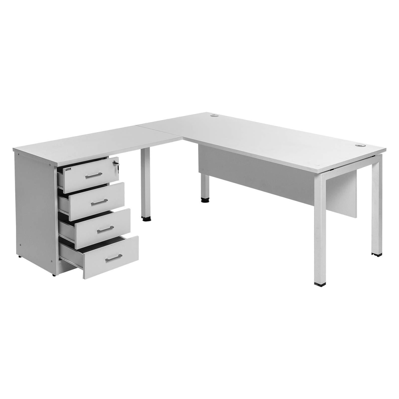 Artak Design L Shape Desk White 160 X 175 Cm Buy Online At Best Price In Uae Amazon Ae