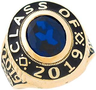 14k Gold Simulated Birthstone 2019 Graduation Mens Class Ring