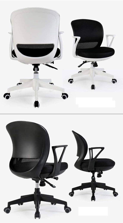 Confortable Chaise De Bureau À La Maison Chaise De Loisirs Chaise De Bureau Chaise De Bureau Chaise D'ordinateur Tabouret Étudiant Chaise Solide (Color : Black 1) Black 1