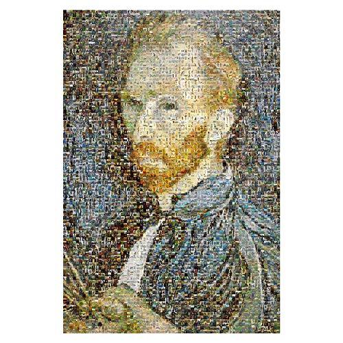 Puzzle-p Van Gogh Mosaik Holz Geschenke, Tische, Entspannen, Therapien Therapeut Anti-Stress-Geschenk for Erwachsene Kinder p ( Size : 4000pcs )