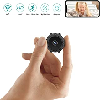 Mini Spy Camera Wireless Hidden with Night Vision HD 1080P Motion Activated Small Hidden Spy Camera Mini Security Camera Nanny Cam with App for Home Office Car