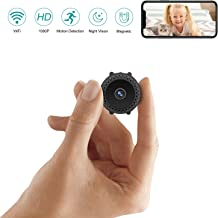 $39 » Mini Spy Camera Wireless Hidden with Night Vision HD 1080P Motion Activated Small Hidden Spy Camera Mini Security Camera Nanny Cam with App for Home Office Car