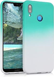 kwmobile Funda Compatible con Huawei P20 Lite - Carcasa de TPU Bicolor en Menta/Blanco