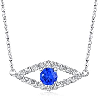 Fashion woman necklace and pendant 925 silver pendant necklace evil eye station woman girl Bracelet