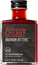 Strongwater Cherry Bourbon Bitters - Organic Tart and Bing Cocktail Cherries soaked in 7 year aged Bourbon, perfect for a Manhattan - 3fl oz
