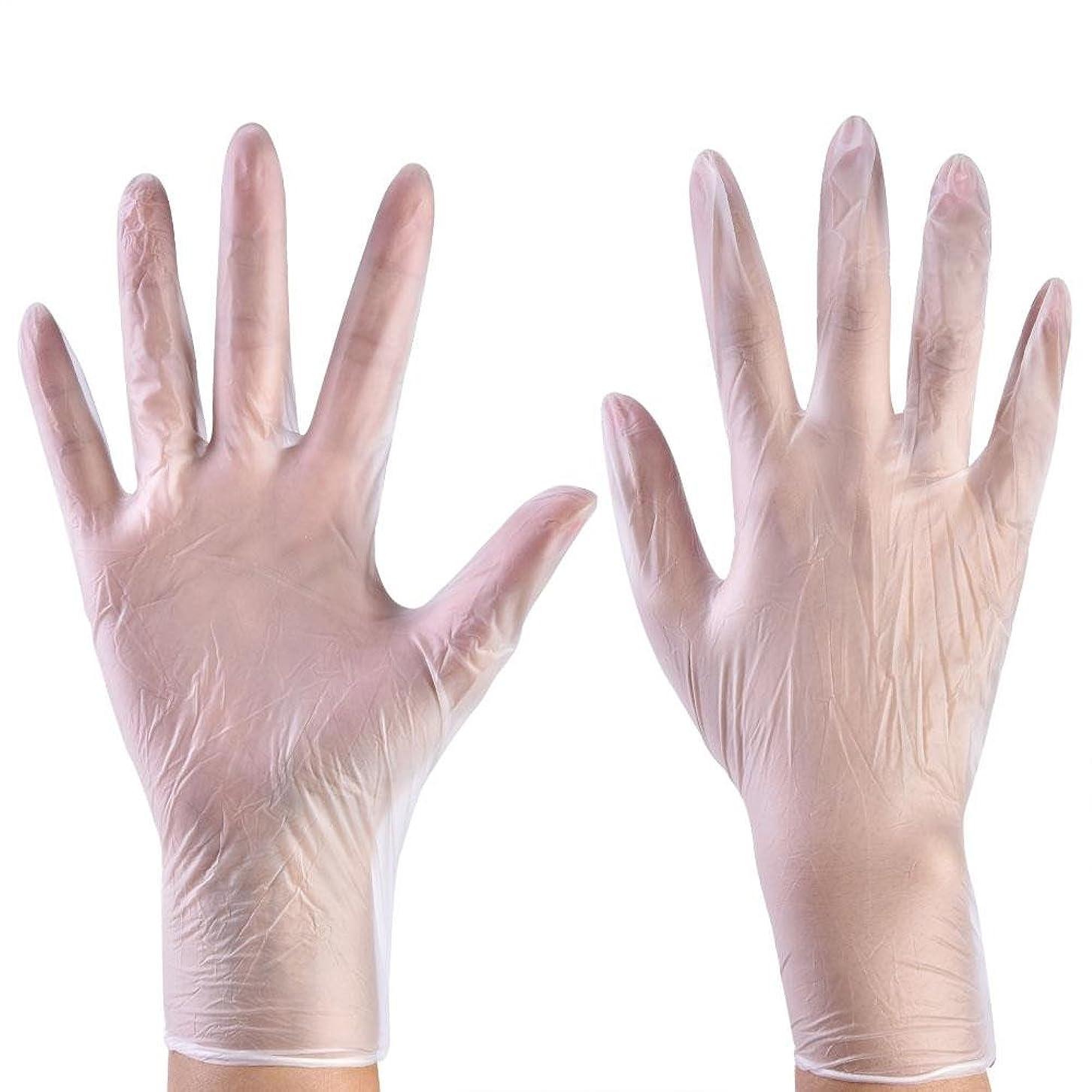 一方、コンサルタント笑使い捨て手袋 ニトリルグローブ ホワイト 粉なし タトゥー/歯科/病院/研究室に適応 S/M/L選択可 100枚 左右兼用(L)