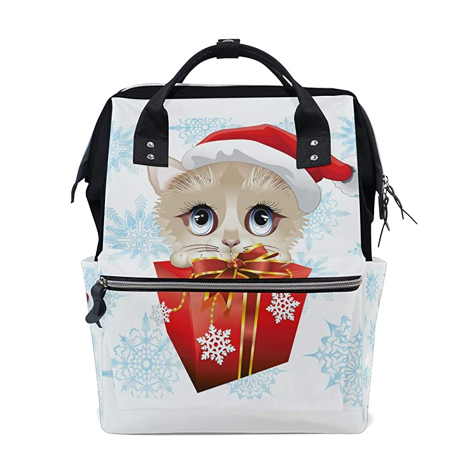 Christmas Gift Cat Baby School Backpack Large Capacity Mummy Bags Laptop Handbag Casual Travel Rucksack Satchel For Women Men Adult Teen Children
