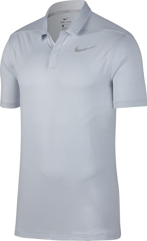 Nike M Nk Dry Polo Ctrl Stripe - Pure Platinum flt Silber - Polos-Herren